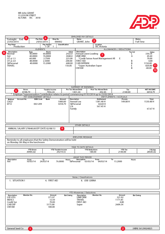 Payslip health check what needs to be included connect for Nsw payslip template